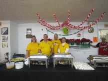 Lions catering Louie's  Christmas party