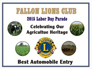 Labor Day Parade Plaque 2015
