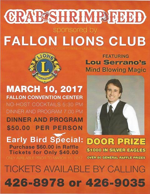 2017 Fallon Lions Crab Feed