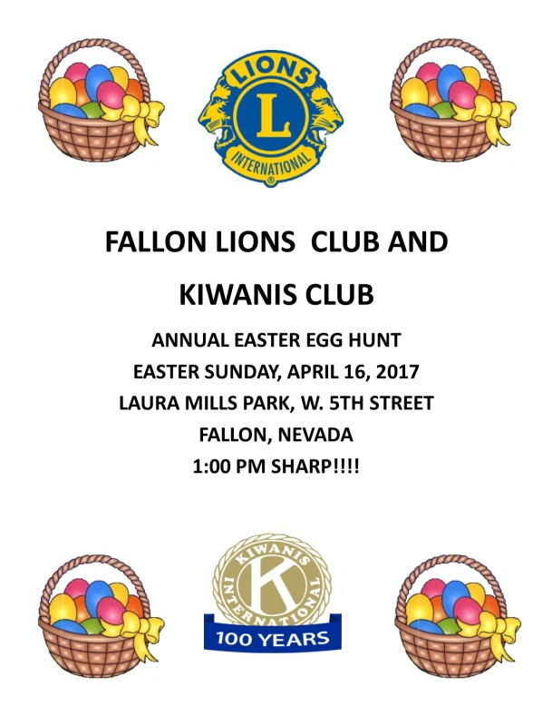 2017 Easter Egg Hunt Flyer