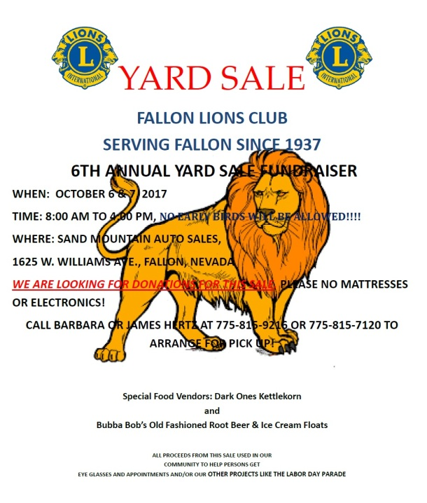 2017 Yard Sale Poster